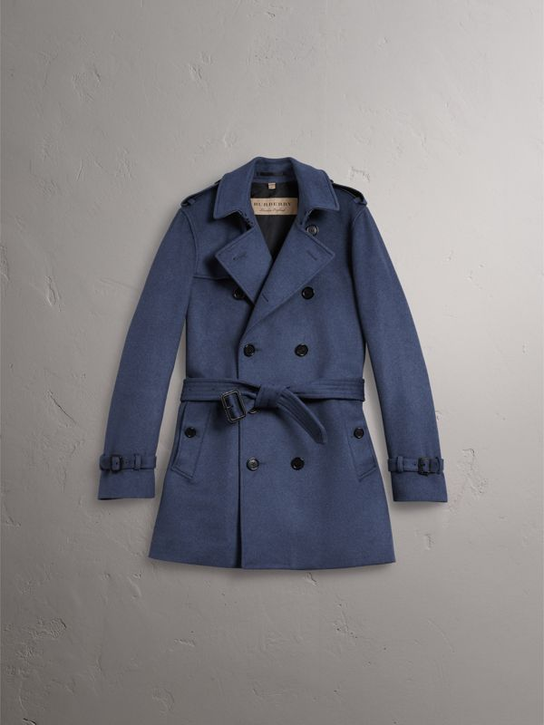 Wool Cashmere Trench Coat in Dark Canvas Blue - Men | Burberry - cell image 3