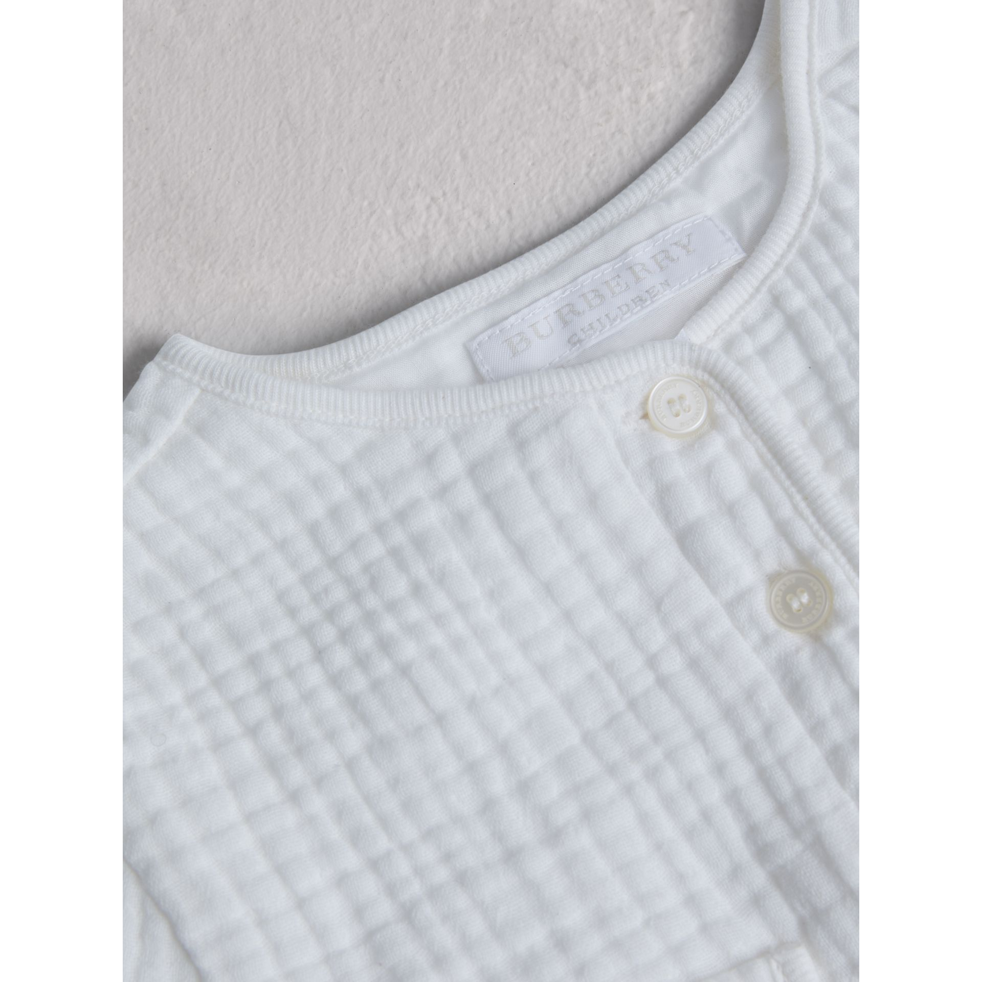 Cotton Two-piece Baby Gift Set in White | Burberry - gallery image 1