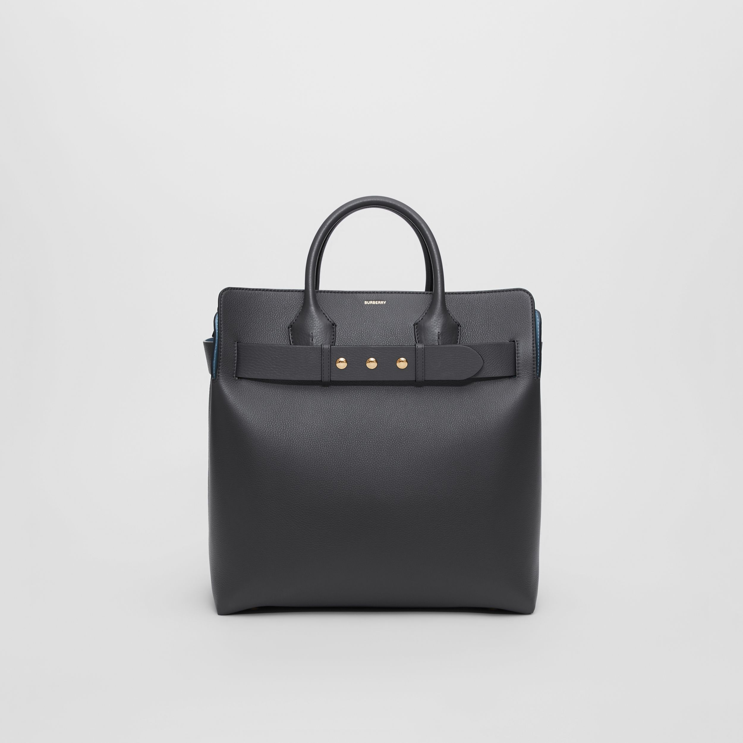 The Large Leather Triple Stud Belt Bag in Charcoal Grey - Women | Burberry - 1