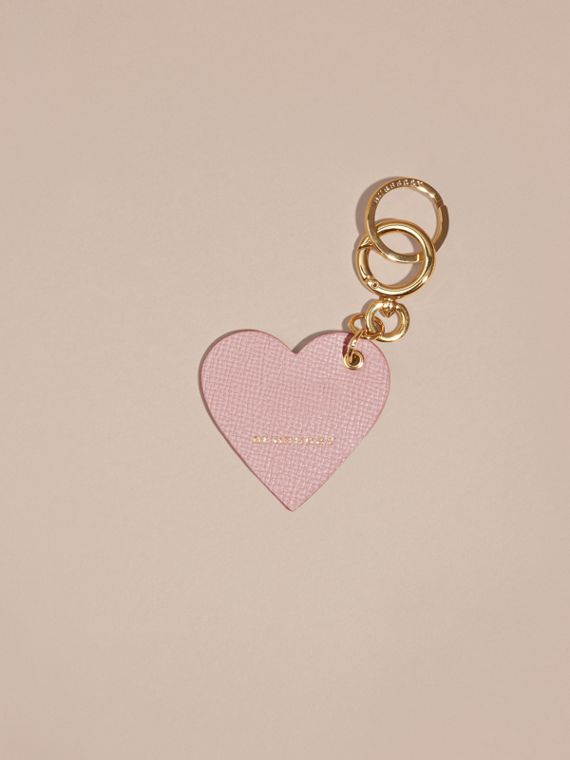 Pink / pink Sequinned Heart Suede Key Charm - cell image 2