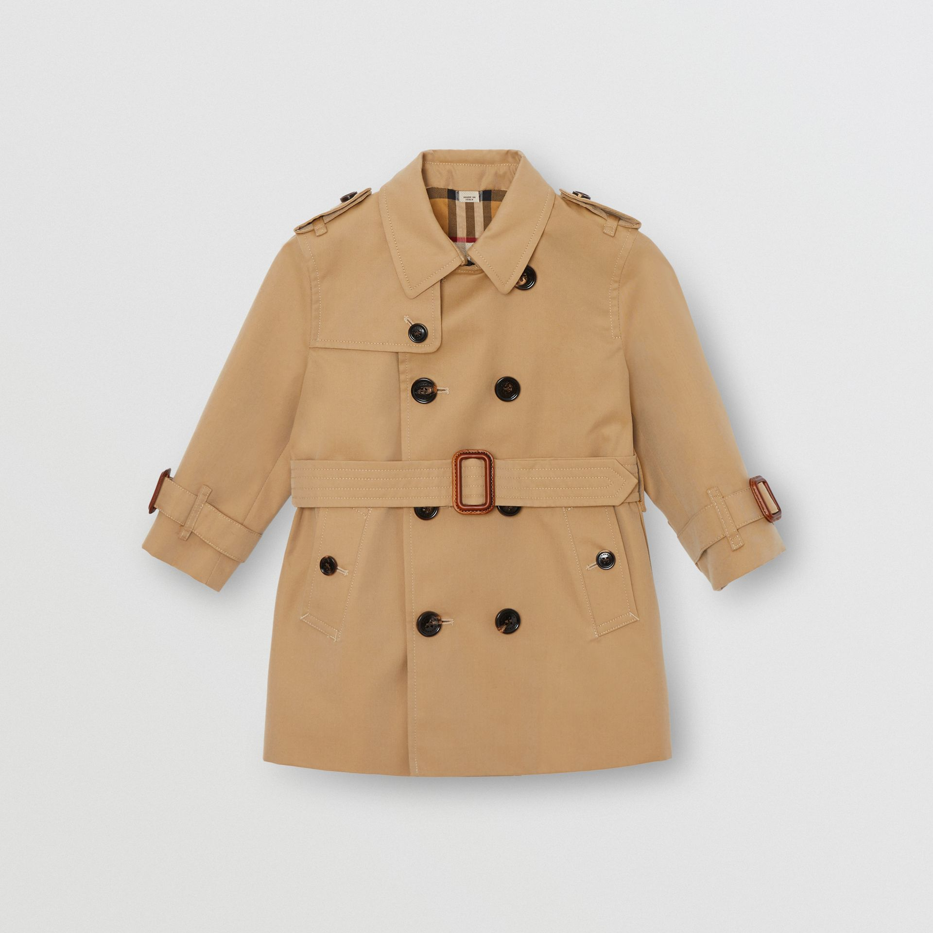Cotton Gabardine Trench Coat in Honey - Children | Burberry Canada - gallery image 0