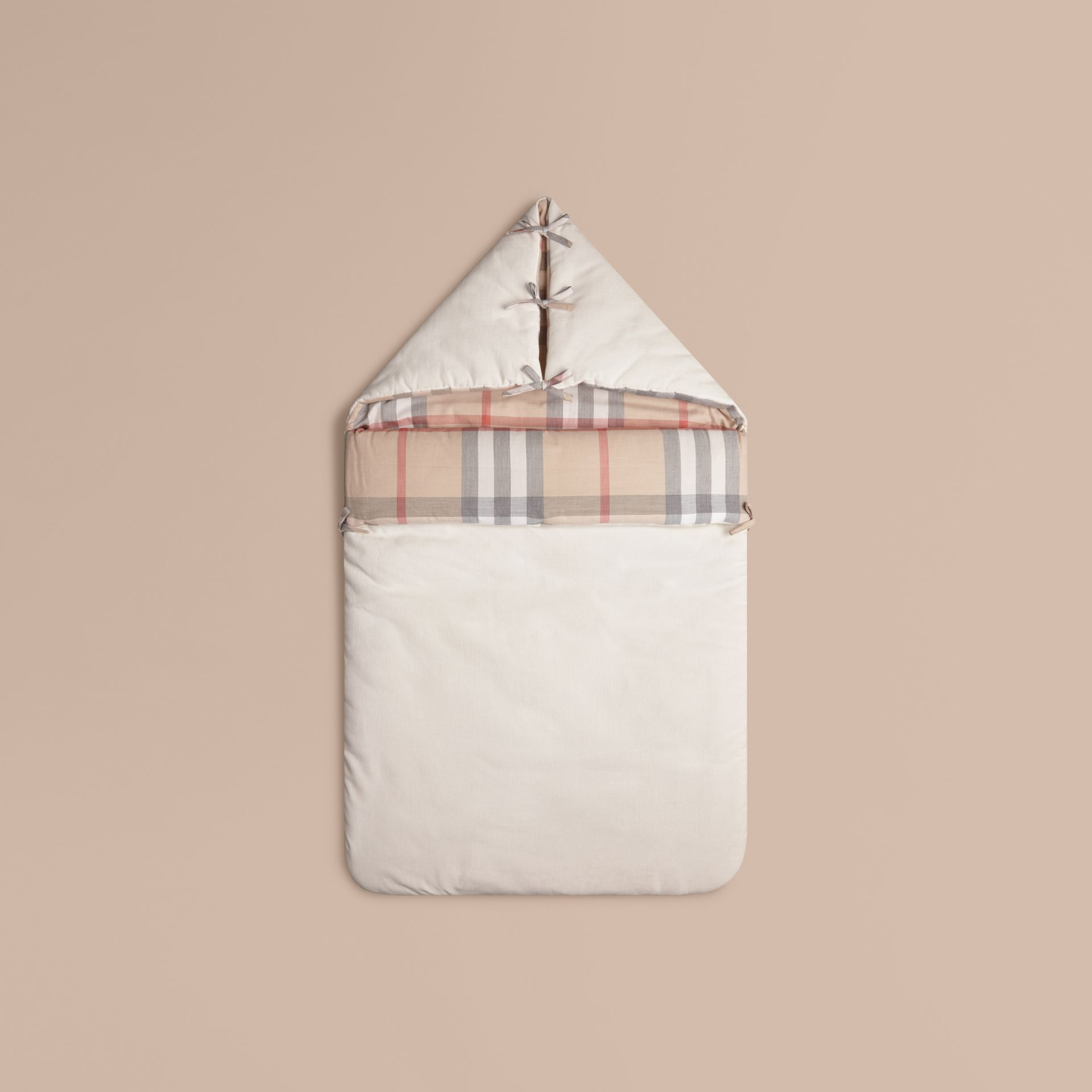 Check-Lined Baby Nest in Off White | Burberry - gallery image 1