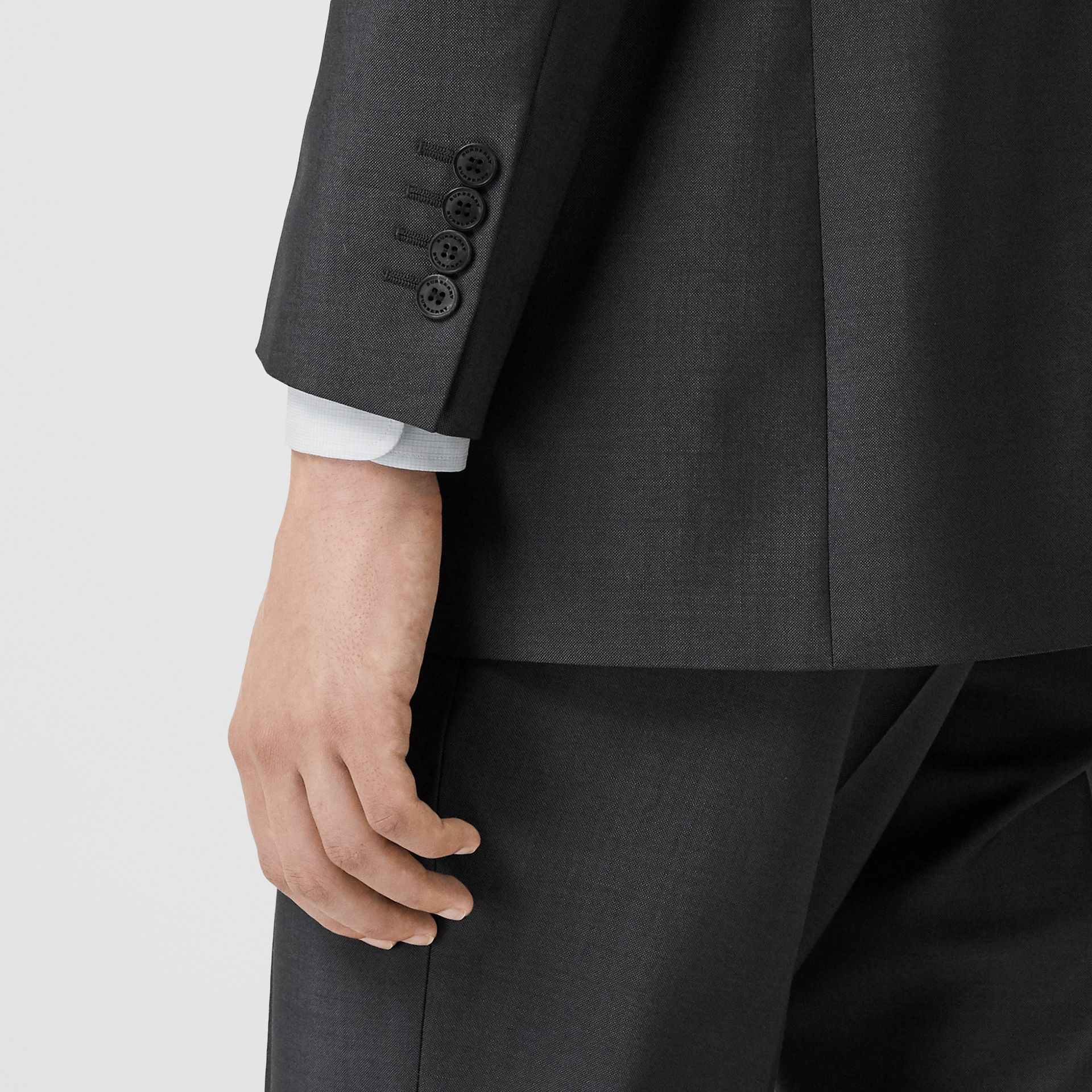 Classic Fit Wool Mohair Suit in Dark Grey - Men | Burberry Canada - gallery image 4
