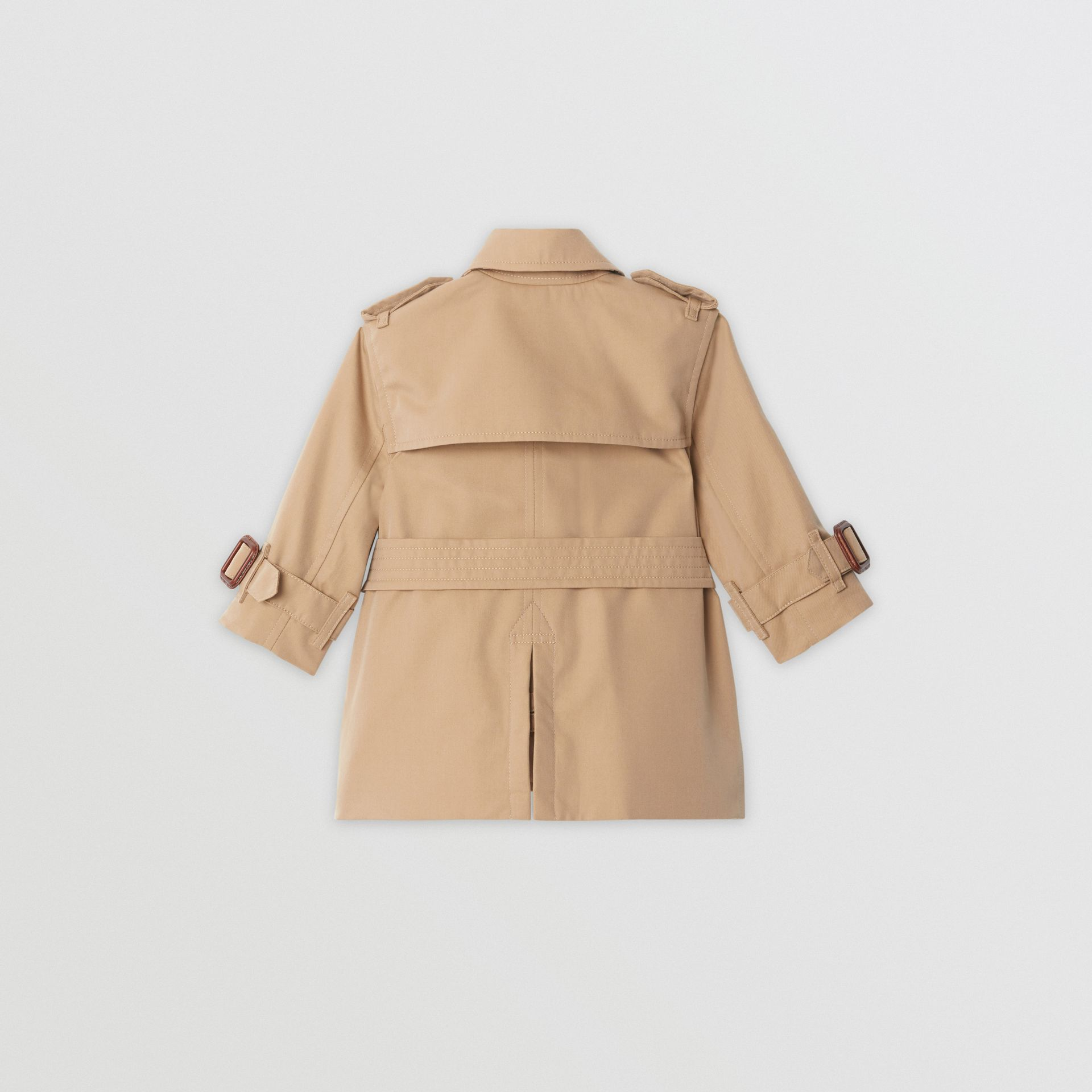 Cotton Gabardine Trench Coat in Honey - Children | Burberry United Kingdom - gallery image 4