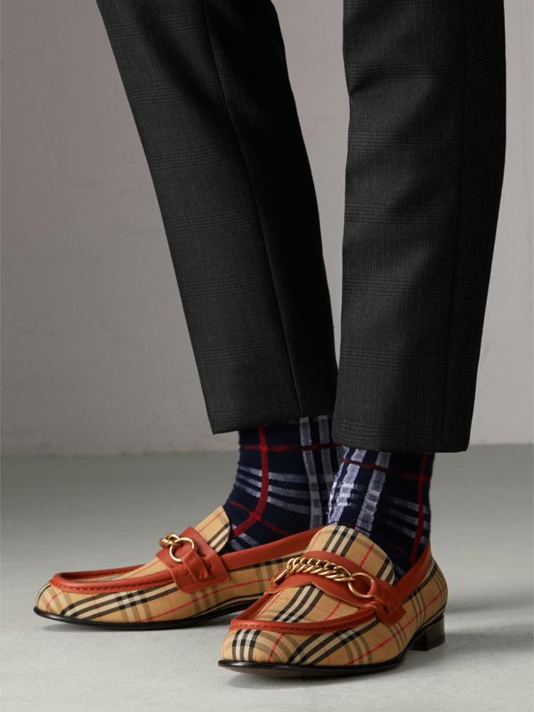 The 1983 Check Link Loafer in Brick Red | Burberry - cell image 2