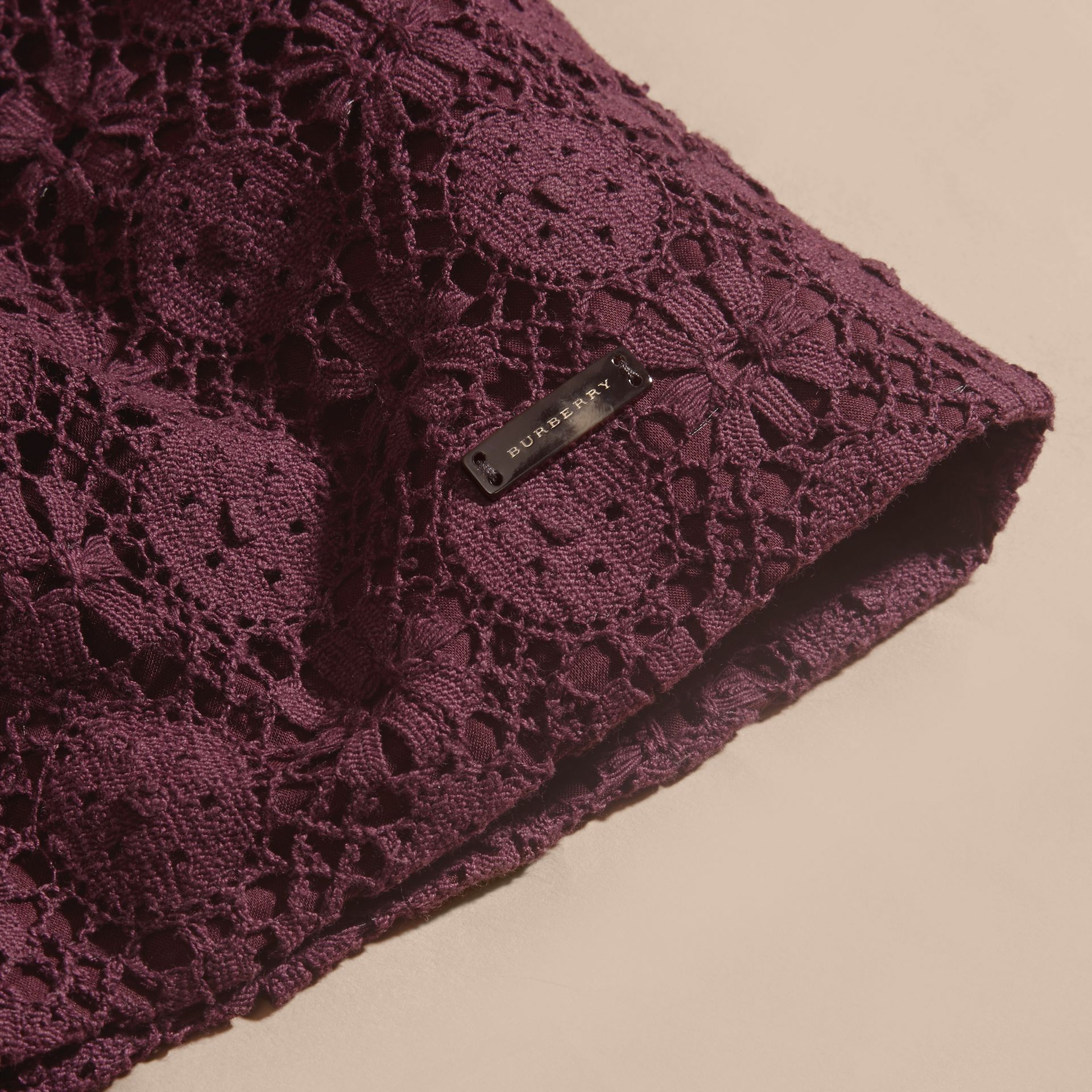 English Lace Dress in Beetroot - gallery image 2