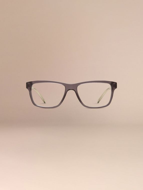 Dark grey Check Detail Rectangular Optical Frames Dark Grey - cell image 2