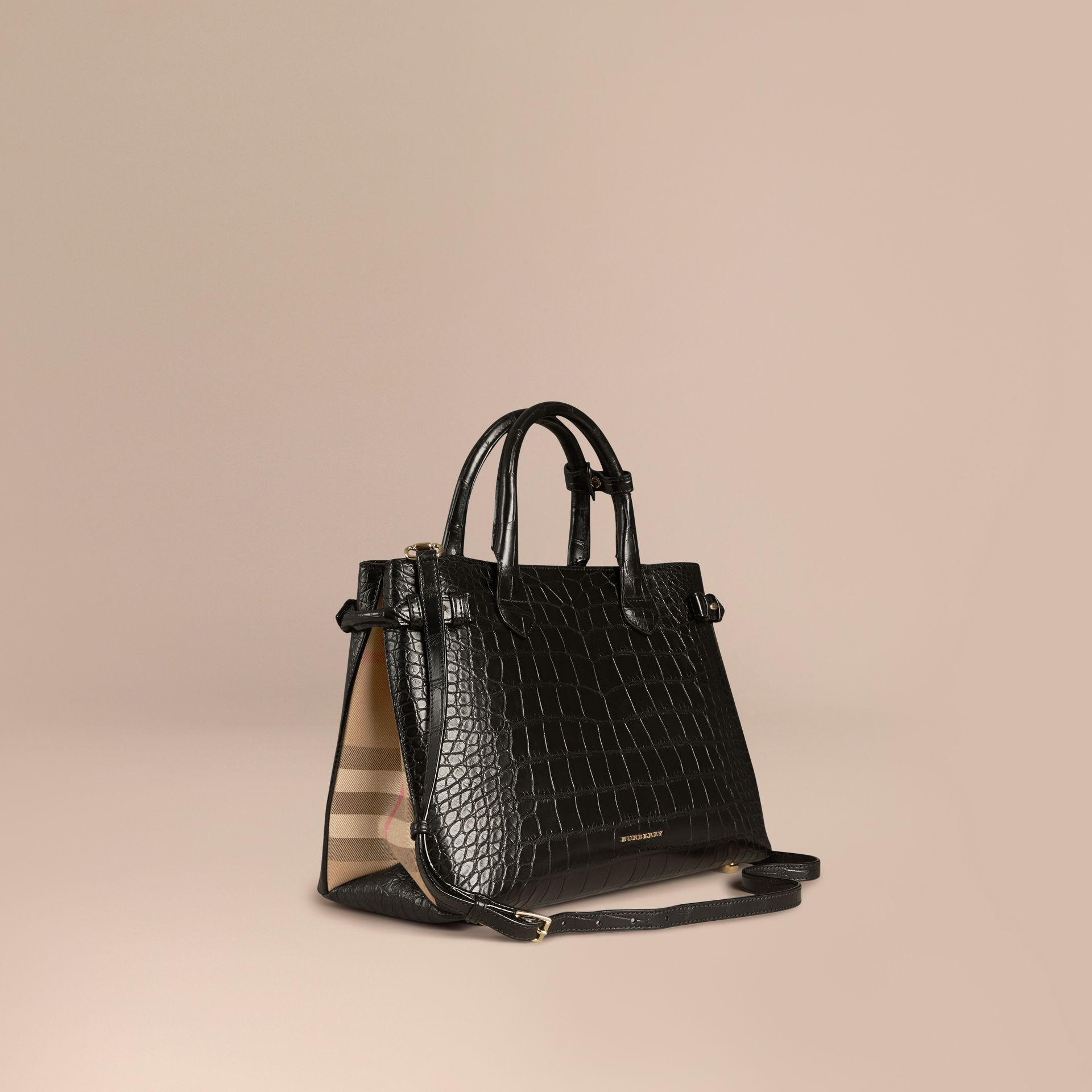 Sac The Banner medium en alligator - photo de la galerie 1
