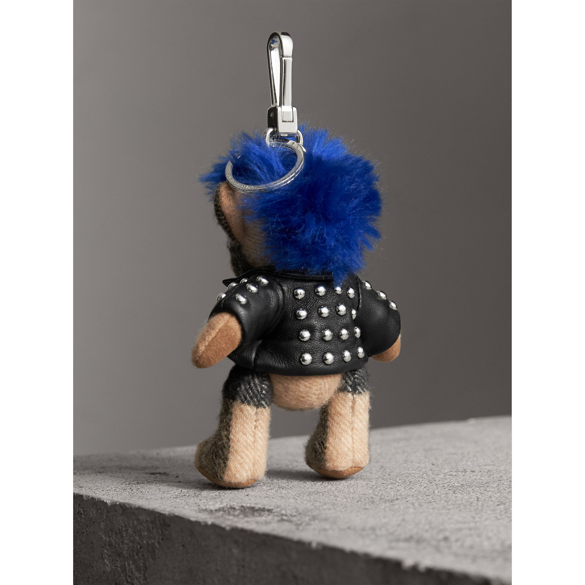 The Punk Thomas Bear Charm in Camel | Burberry Canada - gallery image 3