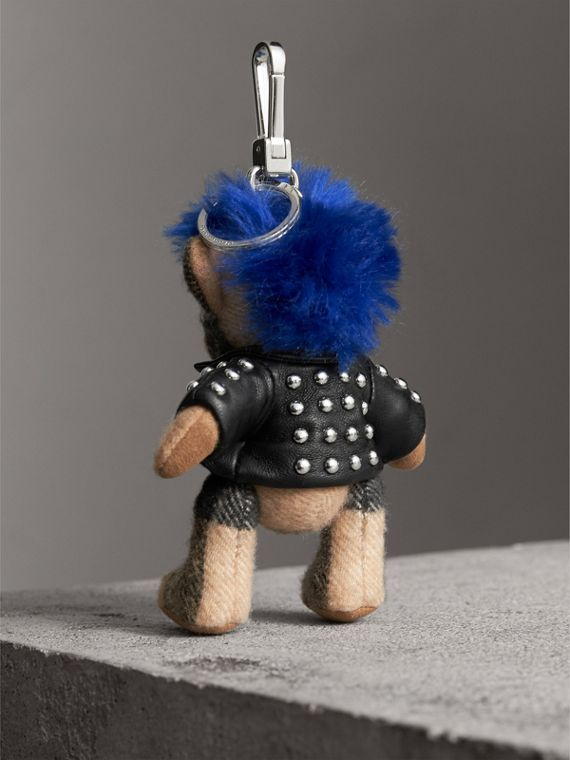 The Punk Thomas Bear Charm in Camel | Burberry Singapore - cell image 3