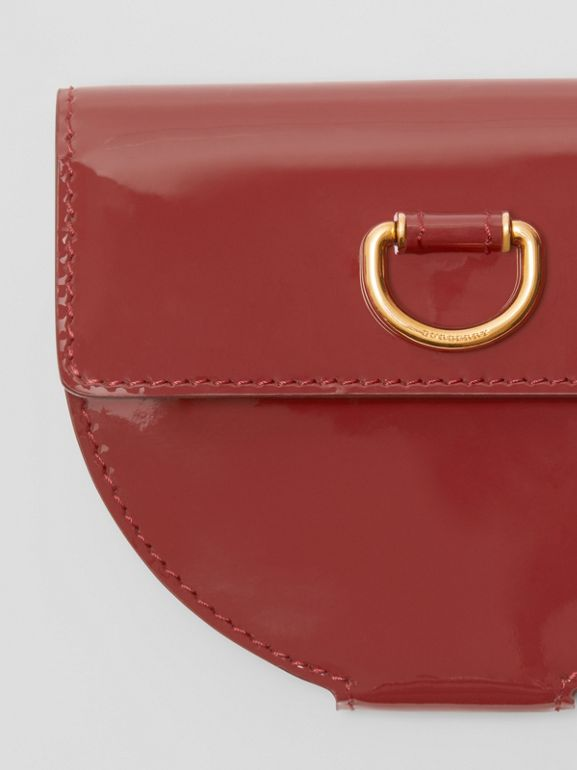 D-ring Detail Patent Leather Coin Case in Crimson - Women | Burberry - cell image 1