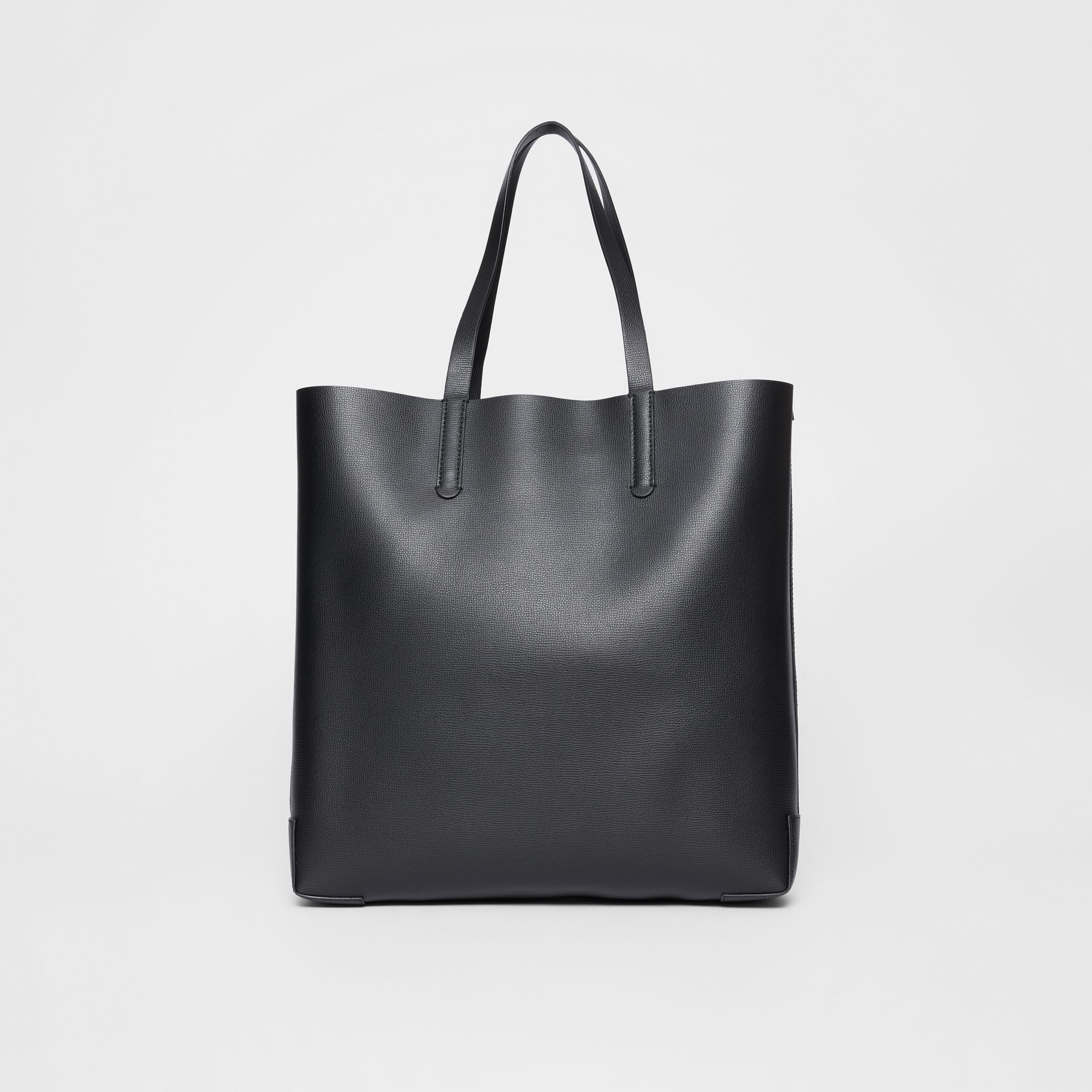 Large Embossed Monogram Motif Leather Tote in Black | Burberry - gallery image 7
