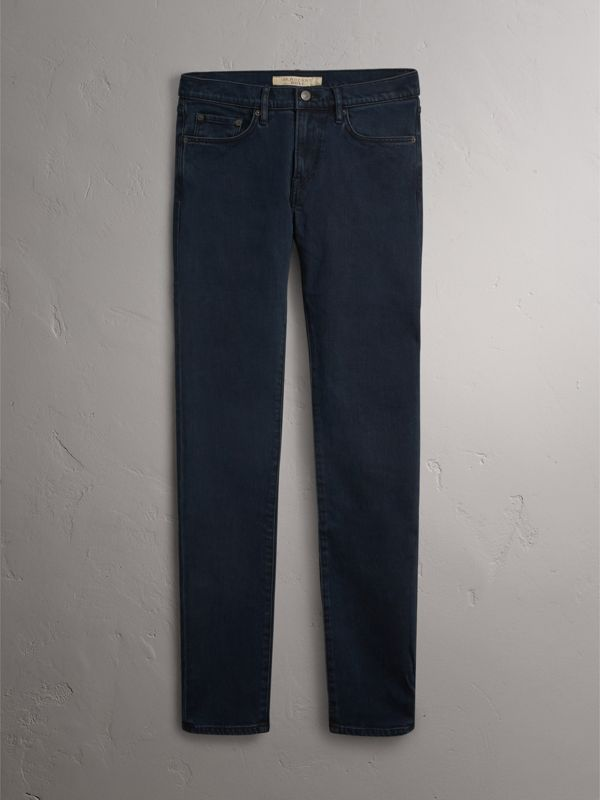 Slim Fit Stretch Denim Jeans in Dark Indigo - Men | Burberry - cell image 3