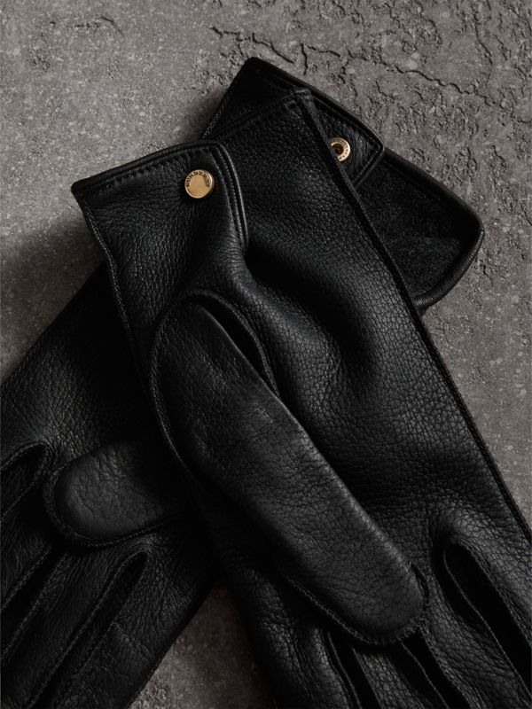 Deerskin Gloves in Black | Burberry United States - cell image 2