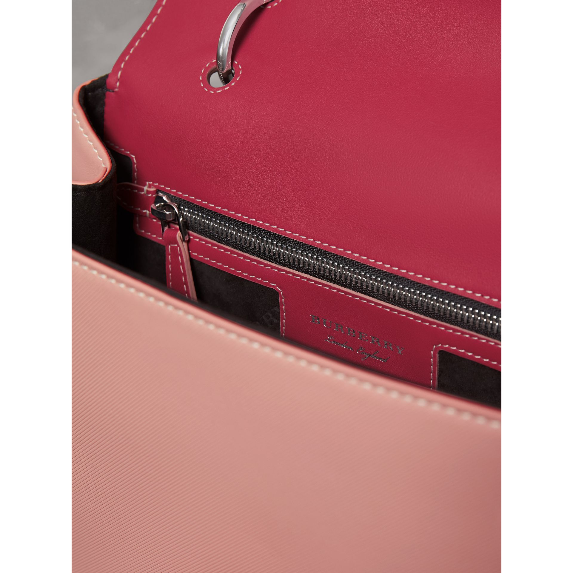 The Medium DK88 Top Handle Bag with Geometric Print in Ash Rose/russet - Women | Burberry - gallery image 5