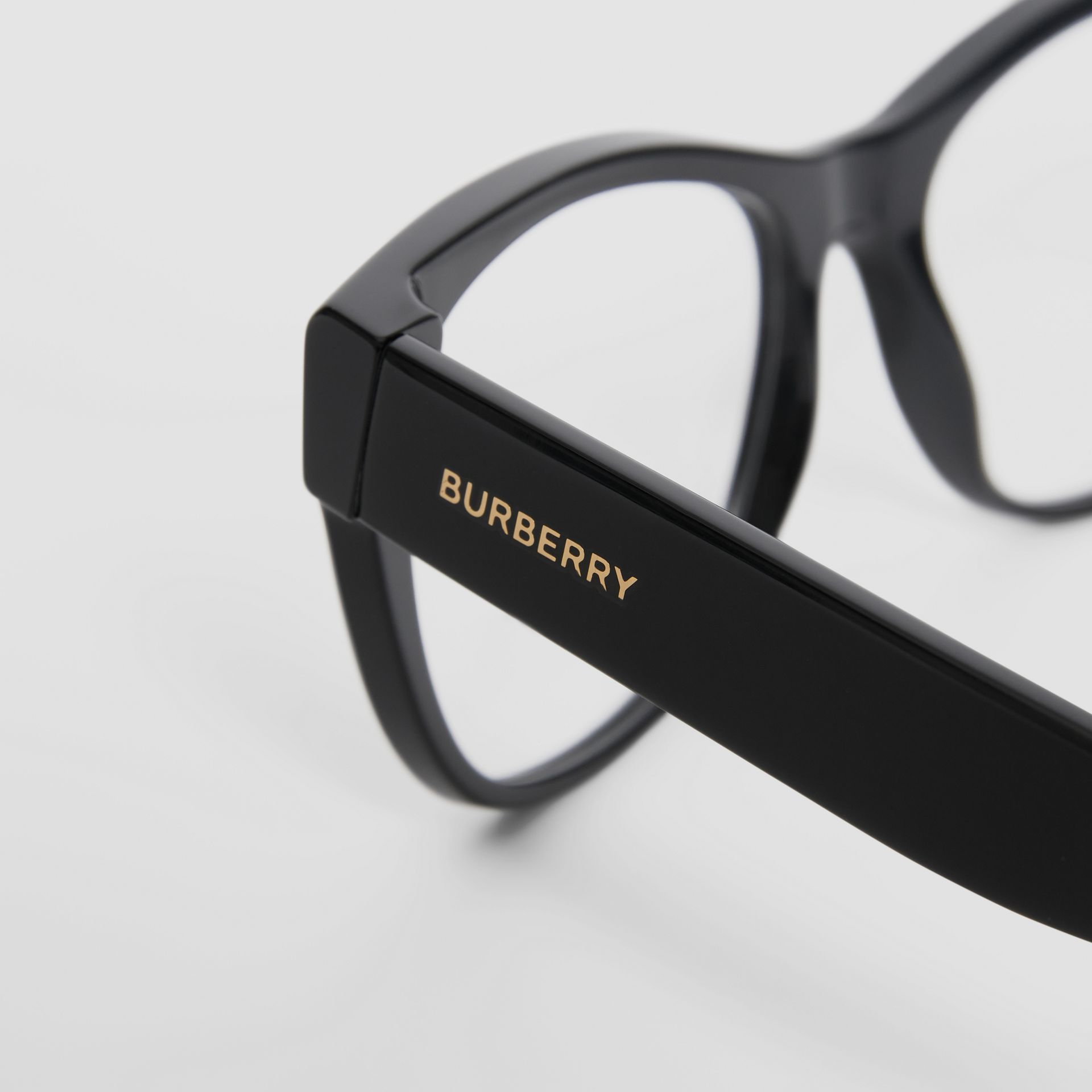 Square Optical Frames in Black - Women | Burberry United Kingdom - gallery image 1