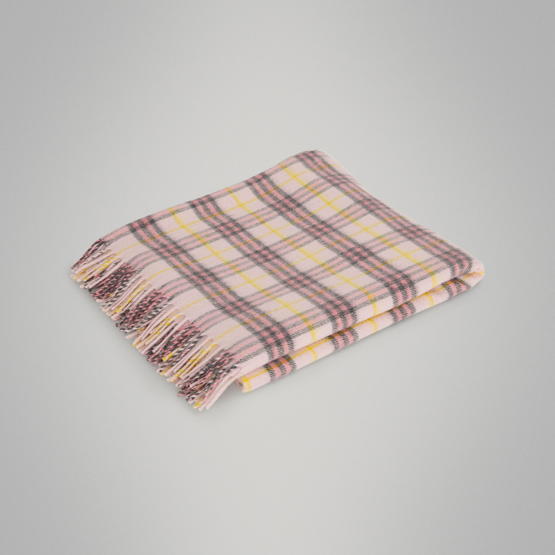 Check Cashmere Baby Blanket in Pale Blossom - Children | Burberry - gallery image 0
