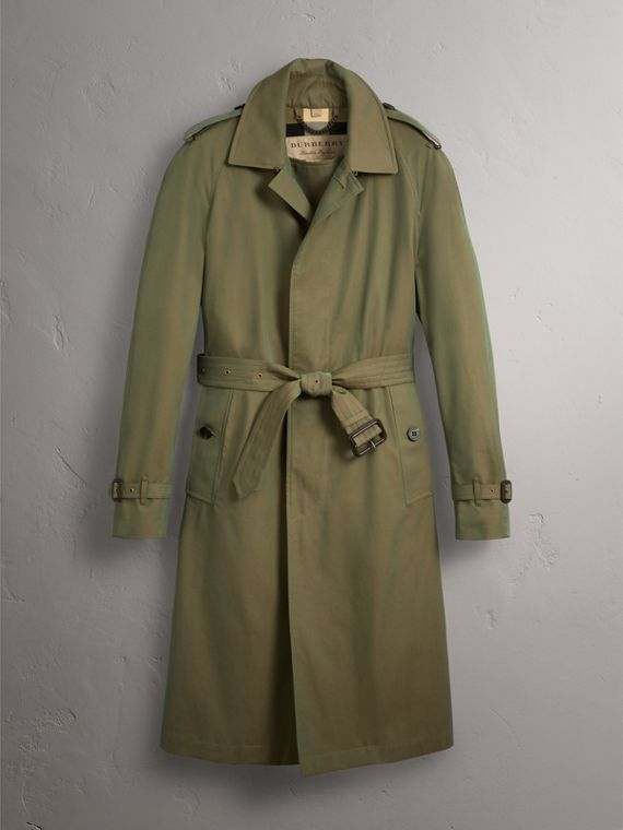 Oversize Storm Shield Tropical Gabardine Trench Coat in Bright Olive - Men | Burberry - cell image 3