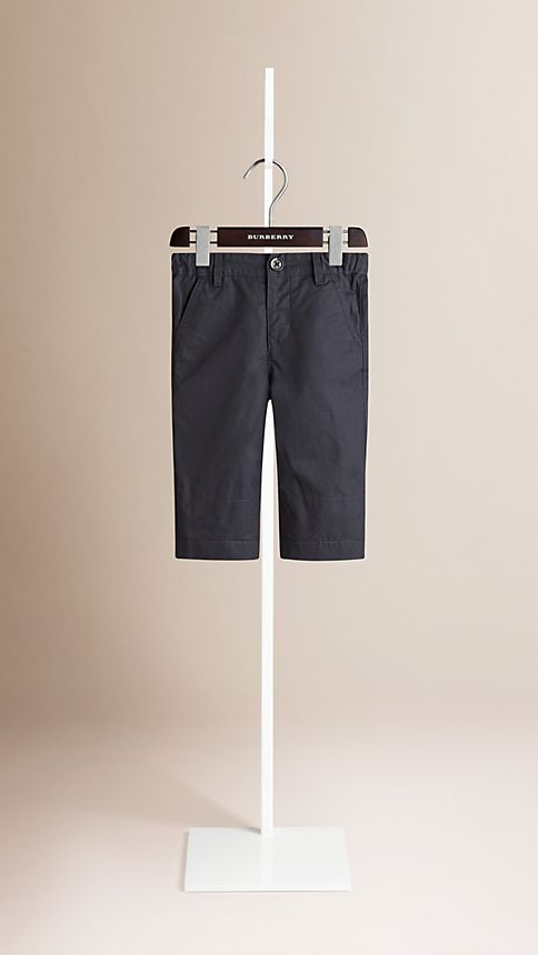 Ink Check Cuff Chinos - Image 3