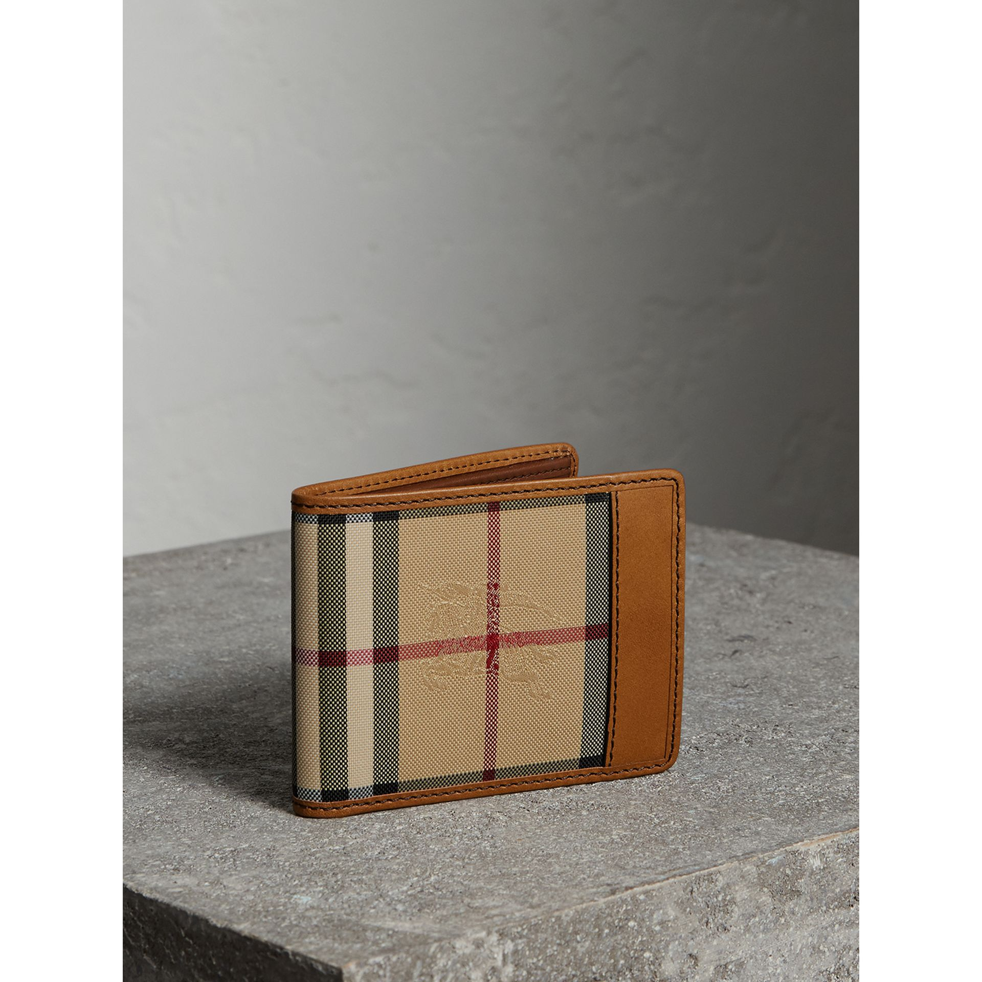 Horseferry Check Bifold Wallet in Tan - Men | Burberry - gallery image 0