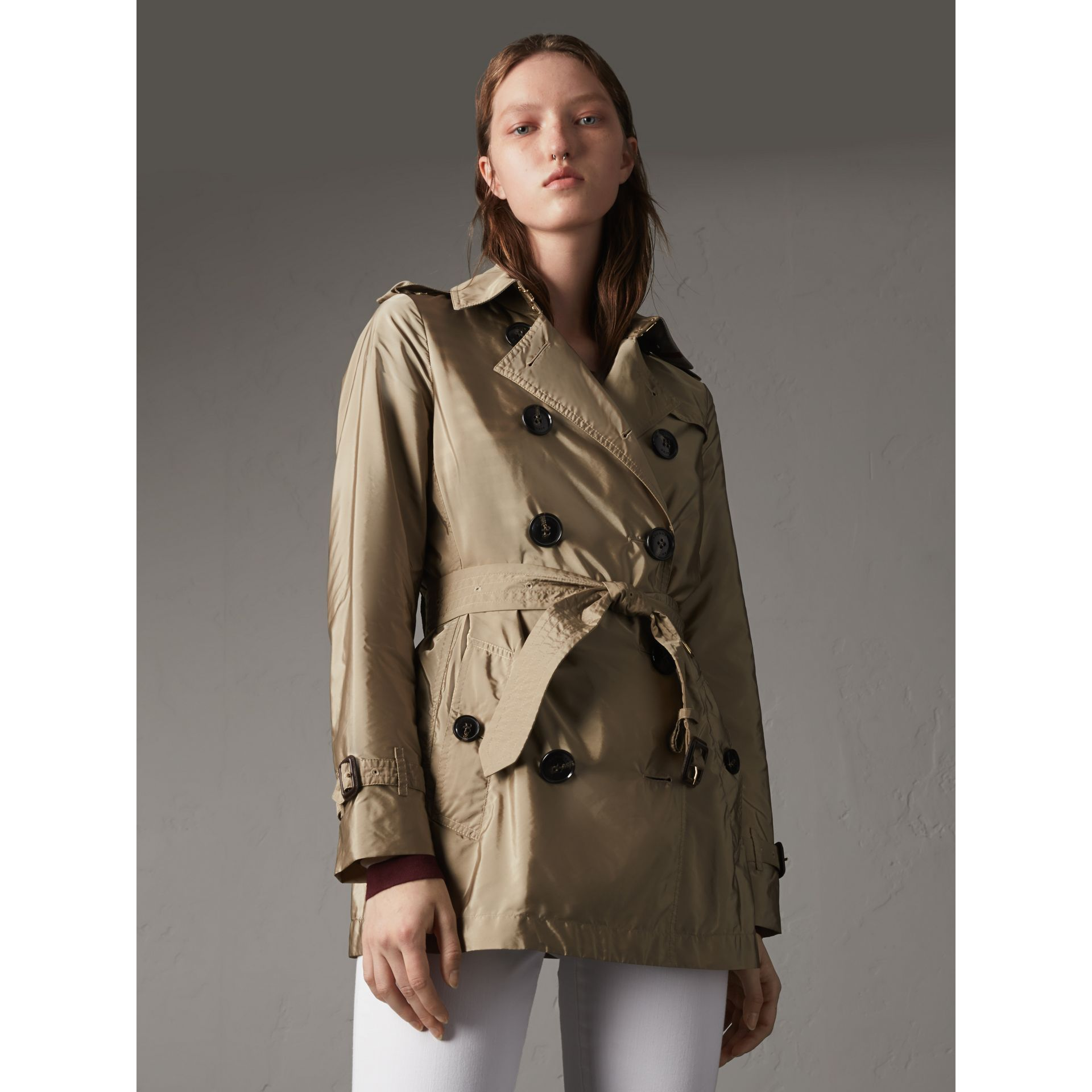 Lightweight Trench Coat in Sisal - gallery image 1