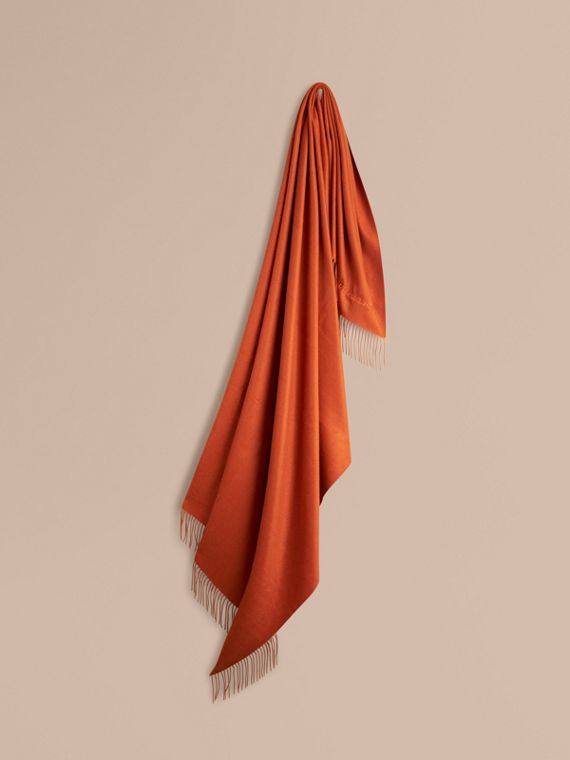 Cashmere Blanket Burnt Orange