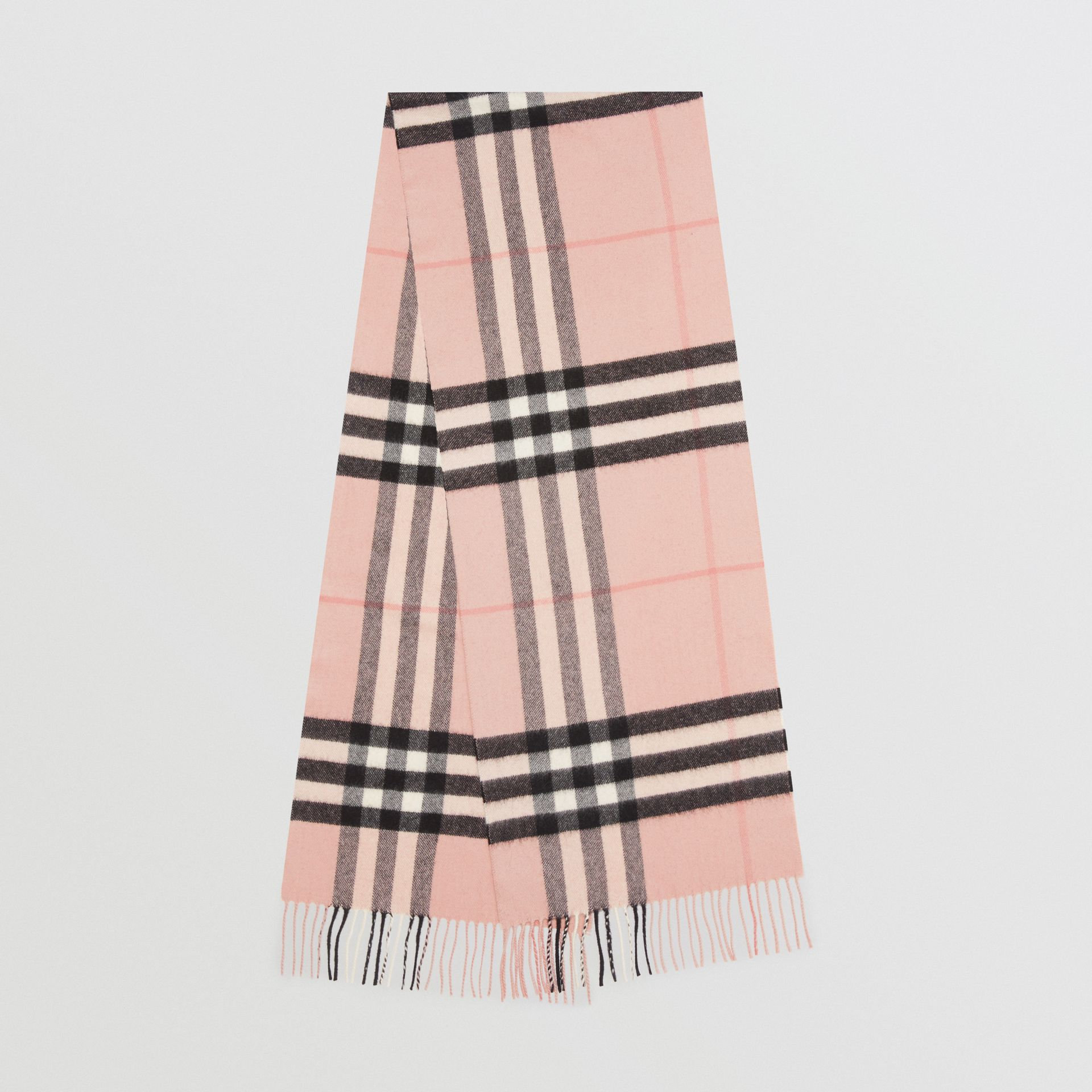 The Classic Check Cashmere Scarf in Ash Rose | Burberry Singapore - gallery image 0