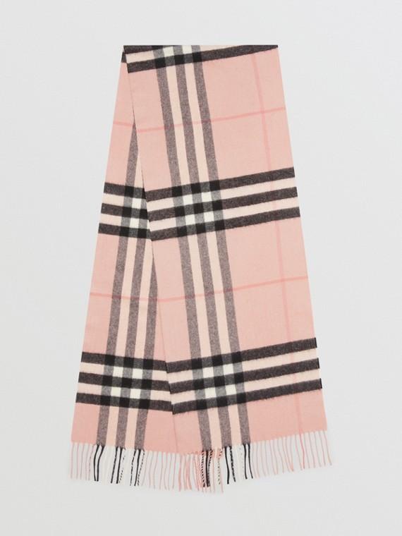 經典格紋喀什米爾圍巾 (煙燻玫瑰色)