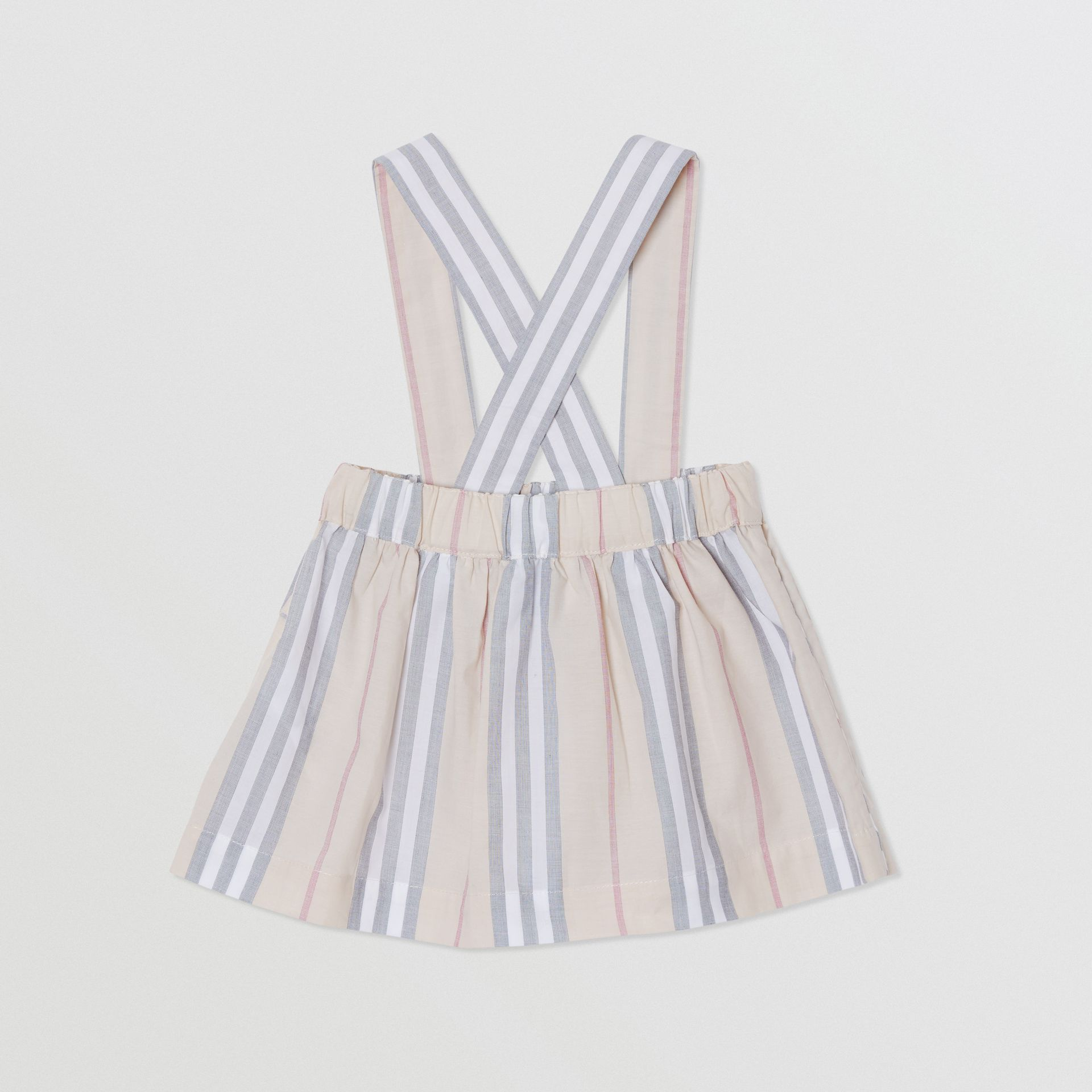 Icon Stripe Cotton Three-piece Baby Gift Set in Pale Stone - Children | Burberry - gallery image 6