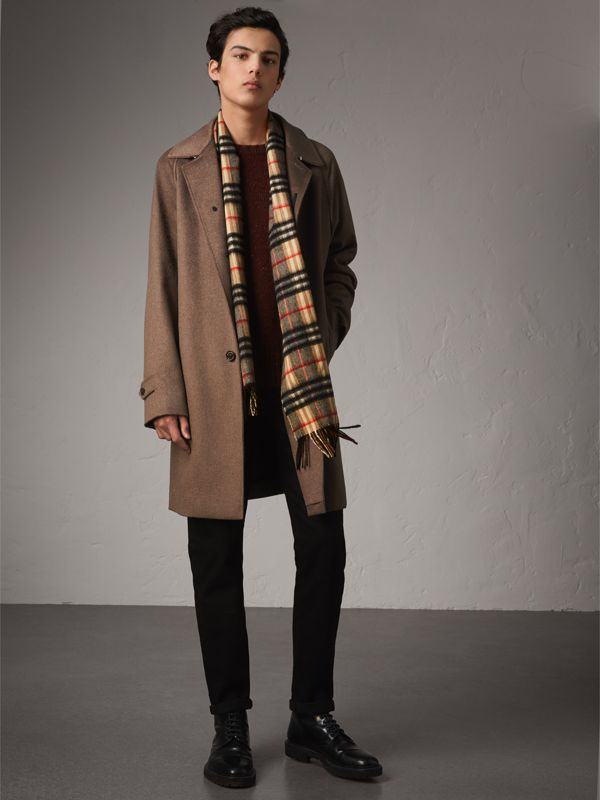 Check Cashmere Scarf in Camel | Burberry Canada - cell image 3