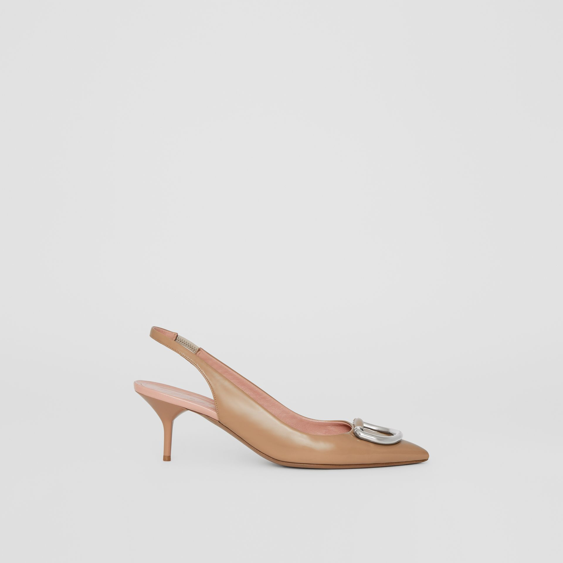 The Leather D-ring Slingback Pump in Nude Blush - Women | Burberry - gallery image 5