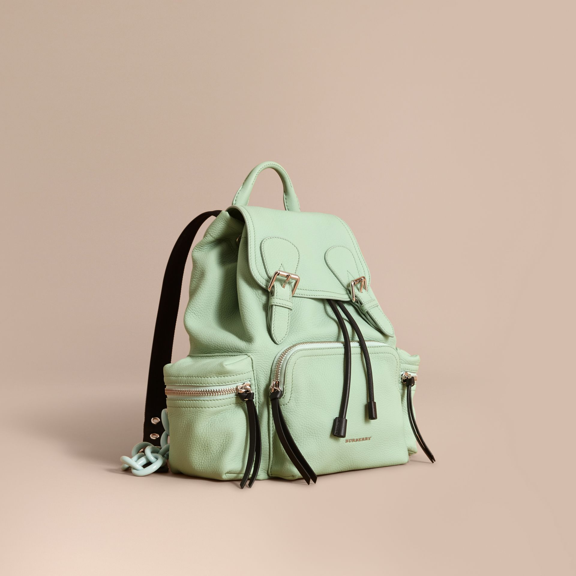 The Medium Rucksack in Deerskin with Resin Chain in Spearmint - Women | Burberry - gallery image 1
