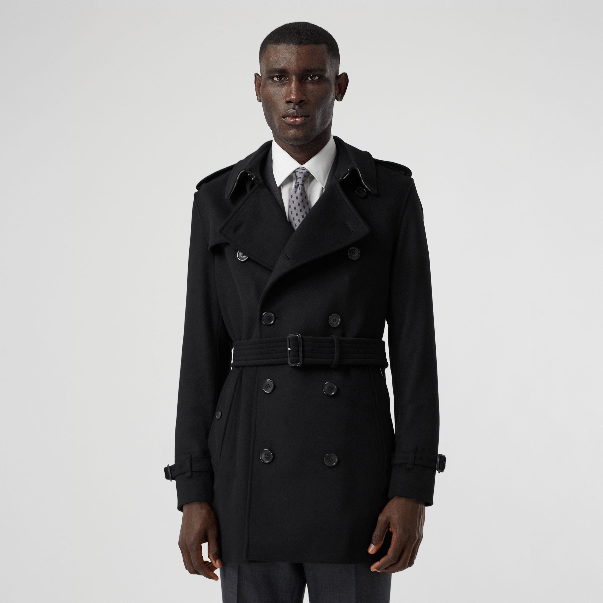 Wool Cashmere Trench Coat in Black - Men | Burberry Canada - 1