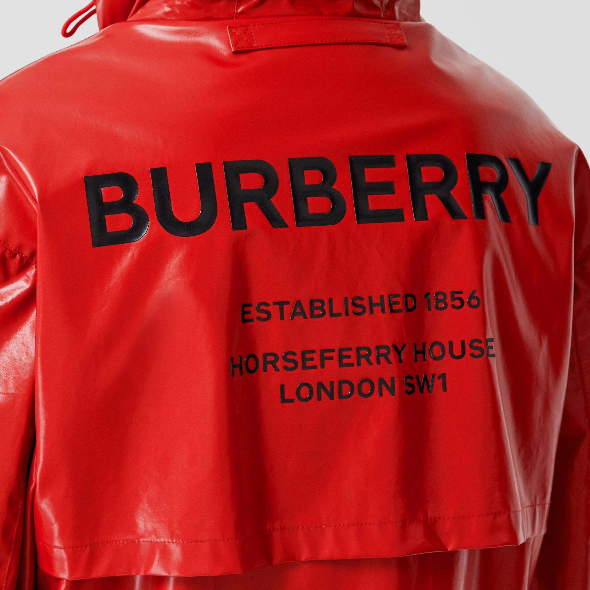 Horseferry Print Coated Jersey Parka in Bright Red - Women | Burberry Hong Kong S.A.R - gallery image 5