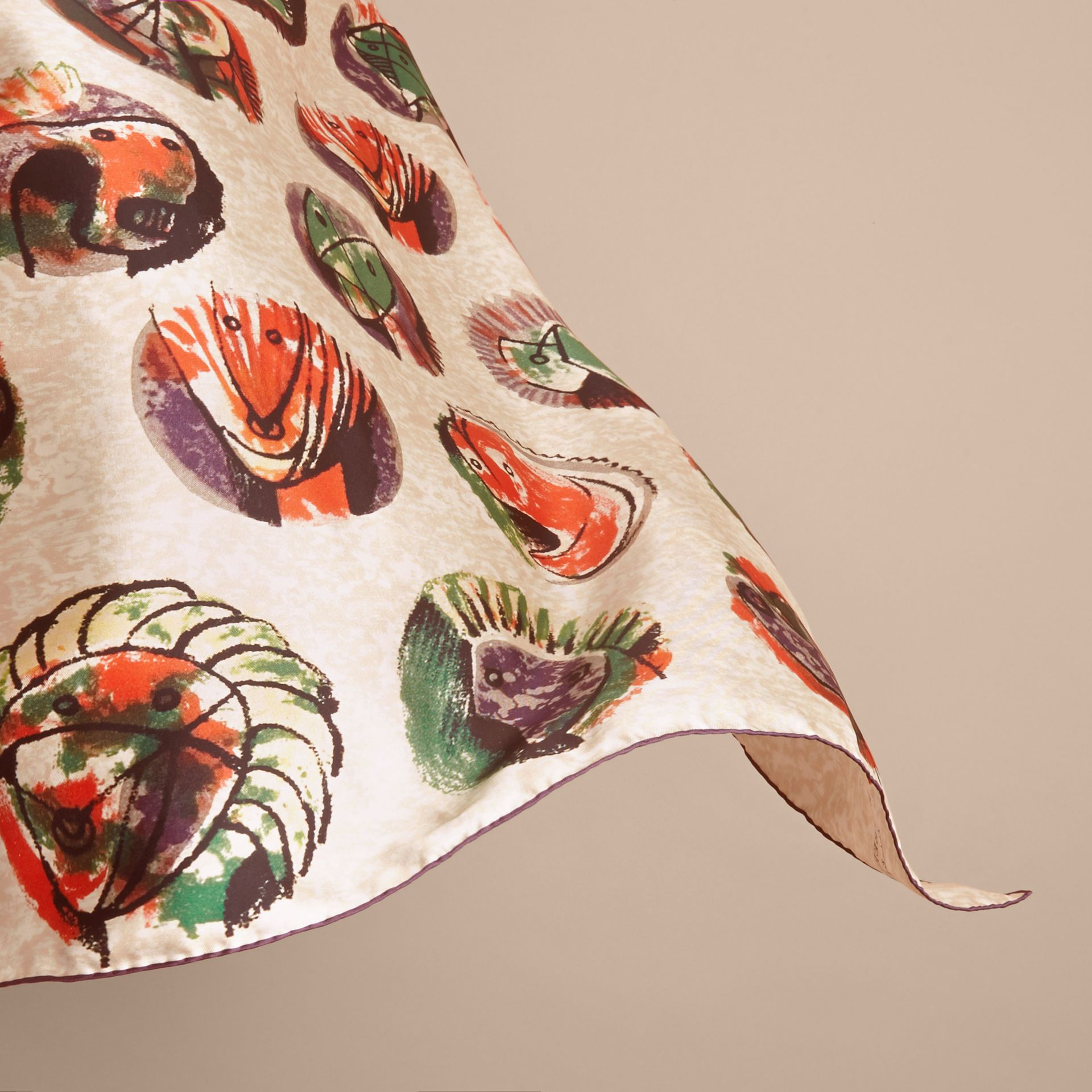 Pallas Heads Print Silk Square – Small - Women | Burberry - gallery image 4