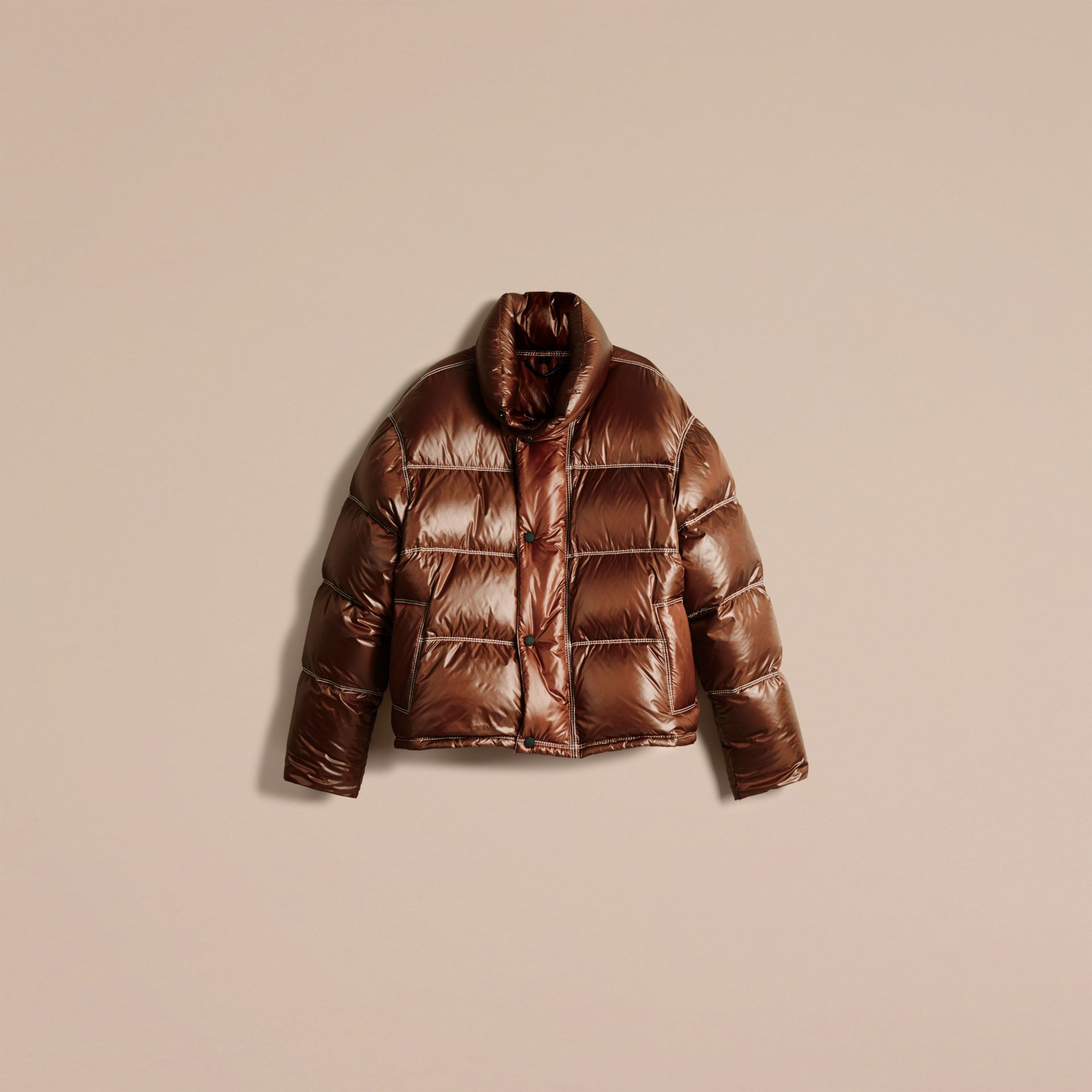 Chestnut brown Down-filled Puffer Jacket - gallery image 4