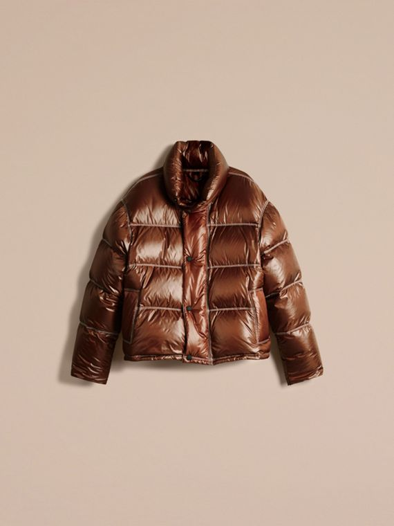 Chestnut brown Down-filled Puffer Jacket - cell image 3