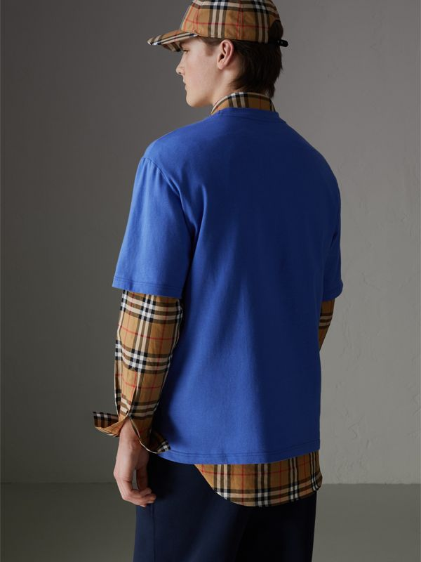 Reissued Cotton T-shirt in Cornflower Blue - Men | Burberry - cell image 2