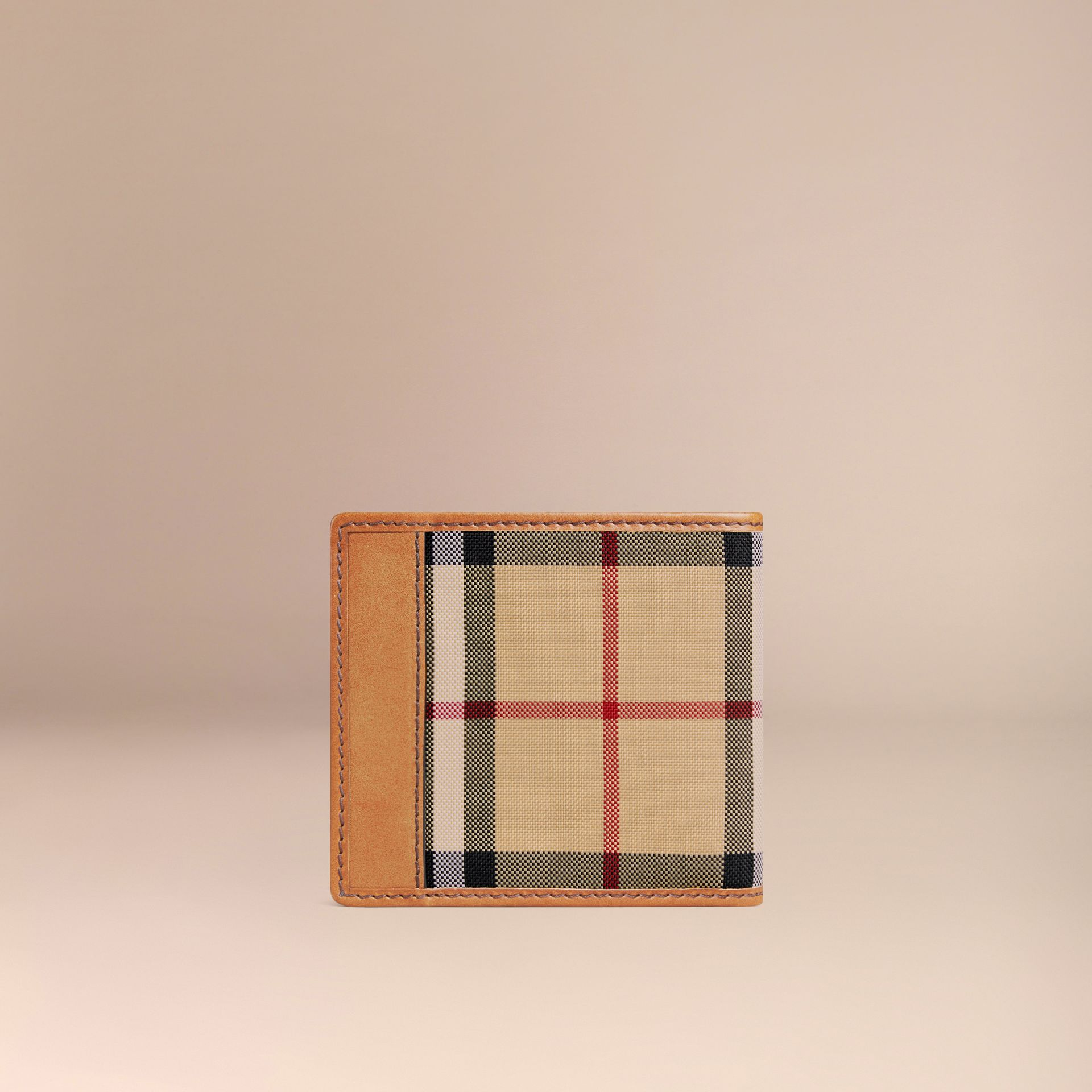 Horseferry Check International Bifold Coin Wallet in Tan - Men | Burberry Australia - gallery image 3