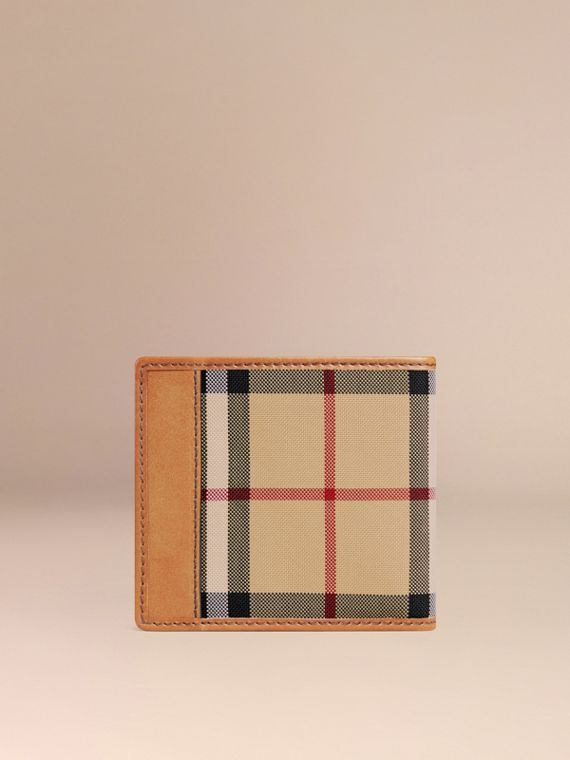 Horseferry Check International Bifold Coin Wallet in Tan - Men | Burberry Australia - cell image 2