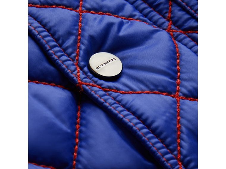 Topstitched Quilted Jacket in Brilliant Blue | Burberry - cell image 1