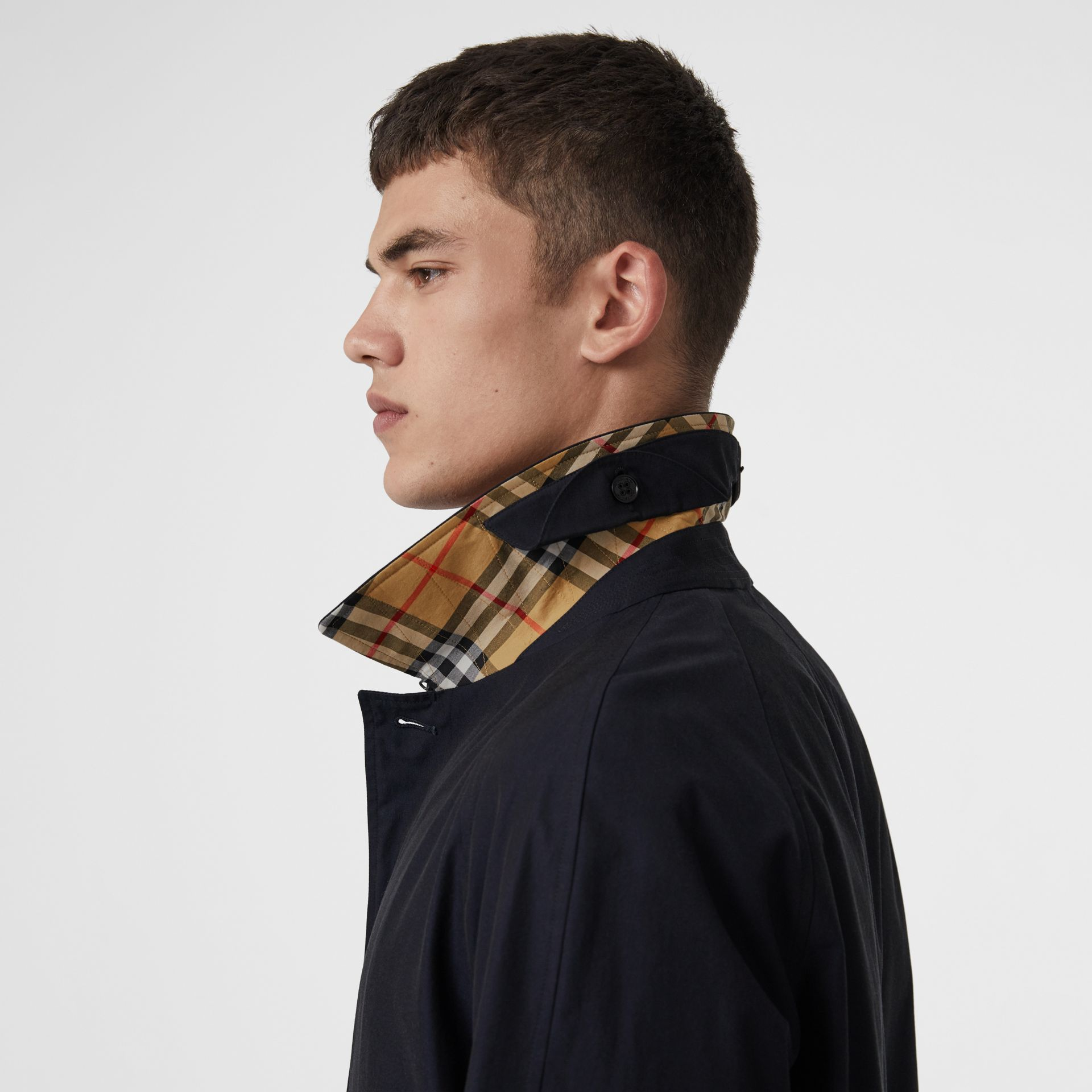 Car Coat The Brighton (Bleu Carbone) - Homme | Burberry - photo de la galerie 6