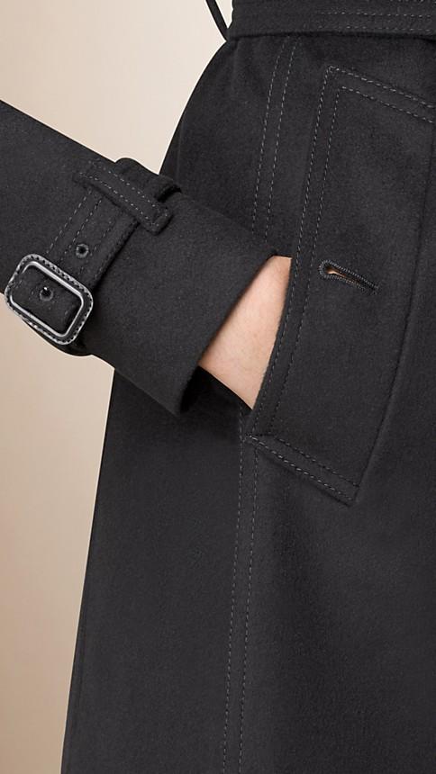 Noir Trench-coat en laine vierge et cachemire - Image 4
