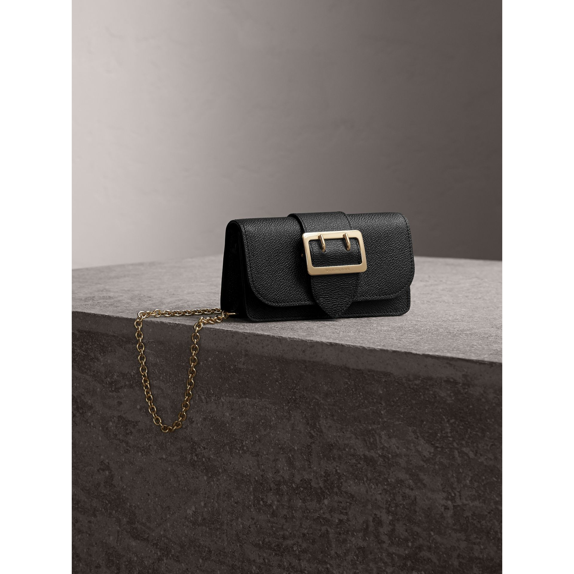 The Mini Buckle Bag in Grainy Leather in Black - gallery image 1