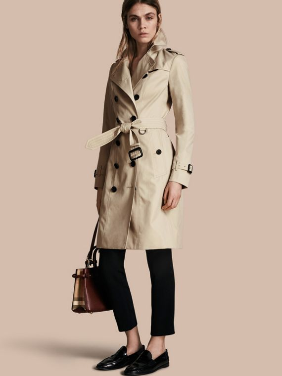 Trench coat Sandringham - Trench coat Heritage largo Piedra
