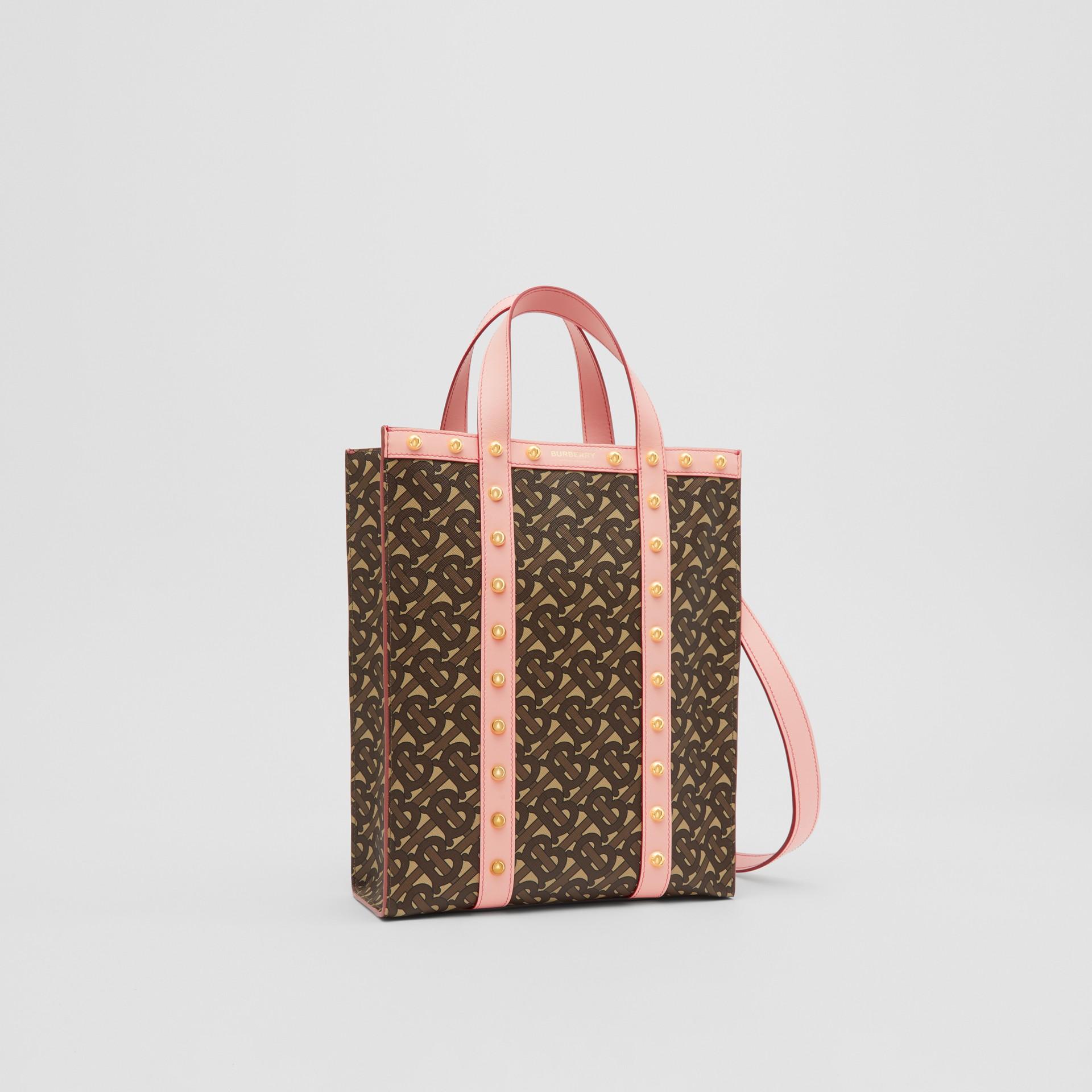 小型花押字印花環保帆布直式托特包 (雲粉紅) - 女款 | Burberry - 圖庫照片 8