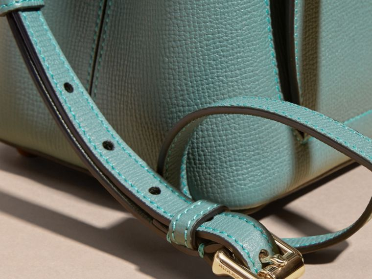 Smokey green The Small Saddle Bag in Grainy Bonded Leather Smokey Green - cell image 1