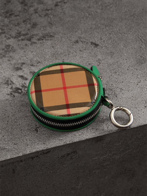 Coated Vintage Check Coin Case in Palm Green | Burberry Australia - cell image 2