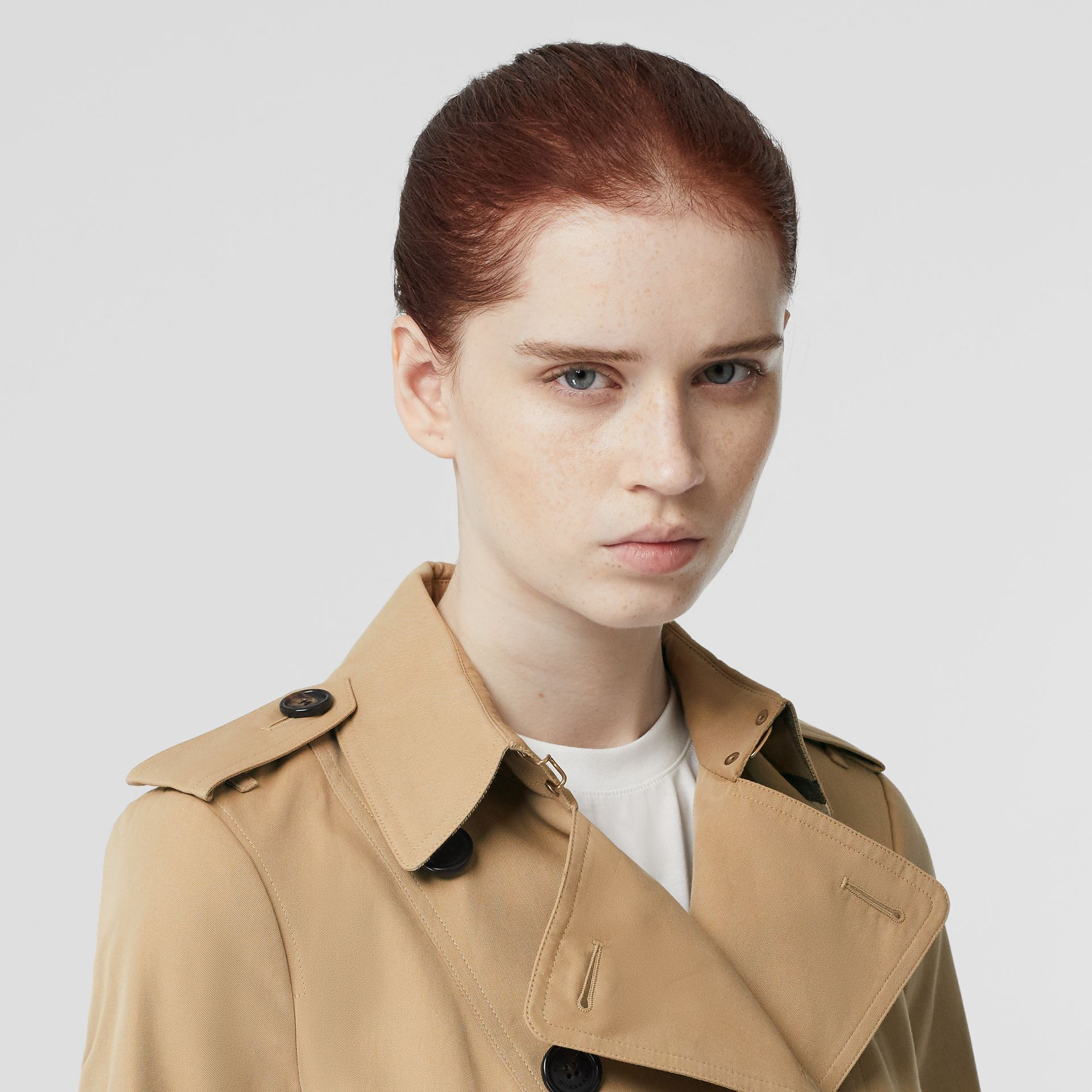 The Sandringham – Mid-length Trench Coat in Honey - Women | Burberry Singapore - gallery image 1