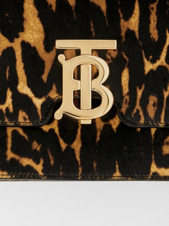 Small Leopard Print Calf Hair TB Bag in Dark Mustard - Women | Burberry Hong Kong S.A.R - cell image 1